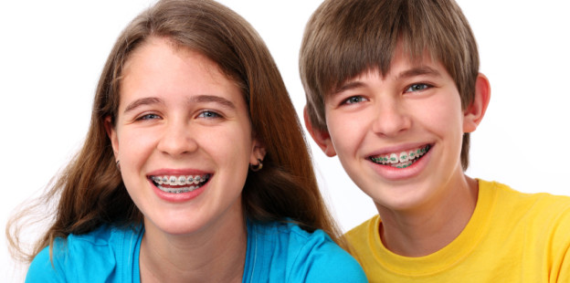 kids with braces smiling
