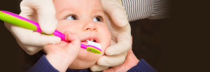 Young child brushing teeth at Affiliated Pediatric Dentistry of NEPA